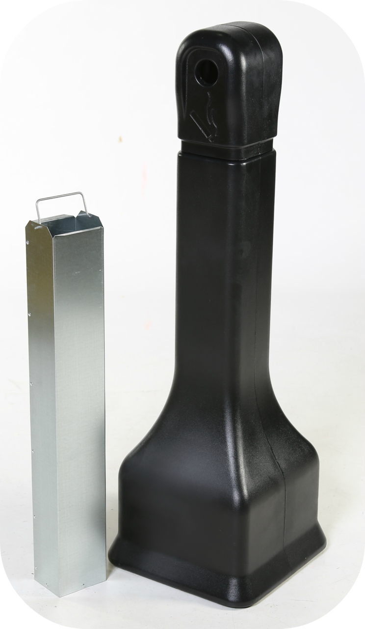 Forte Plastic Outdoor Ashtray Cigarette Disposer Black
