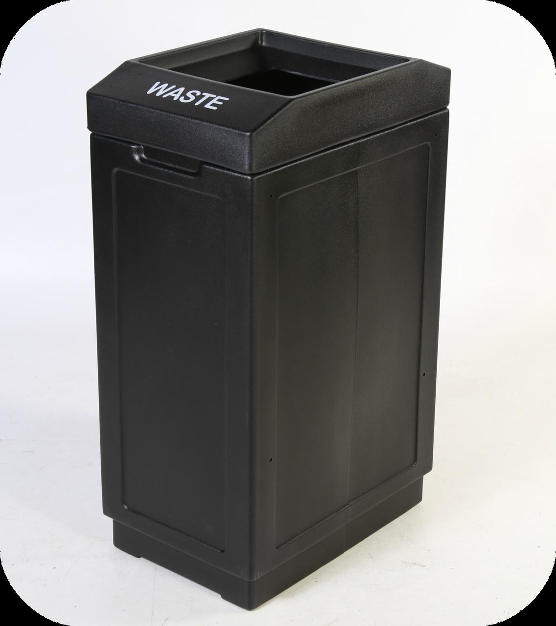 39 Gallon Indoor Outdoor Forte Plastic Waste Can Black