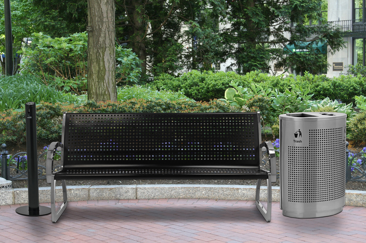 in The Park with Matching Grand Dual Recycle Bin and Smokers Outpost Smokers Pole
