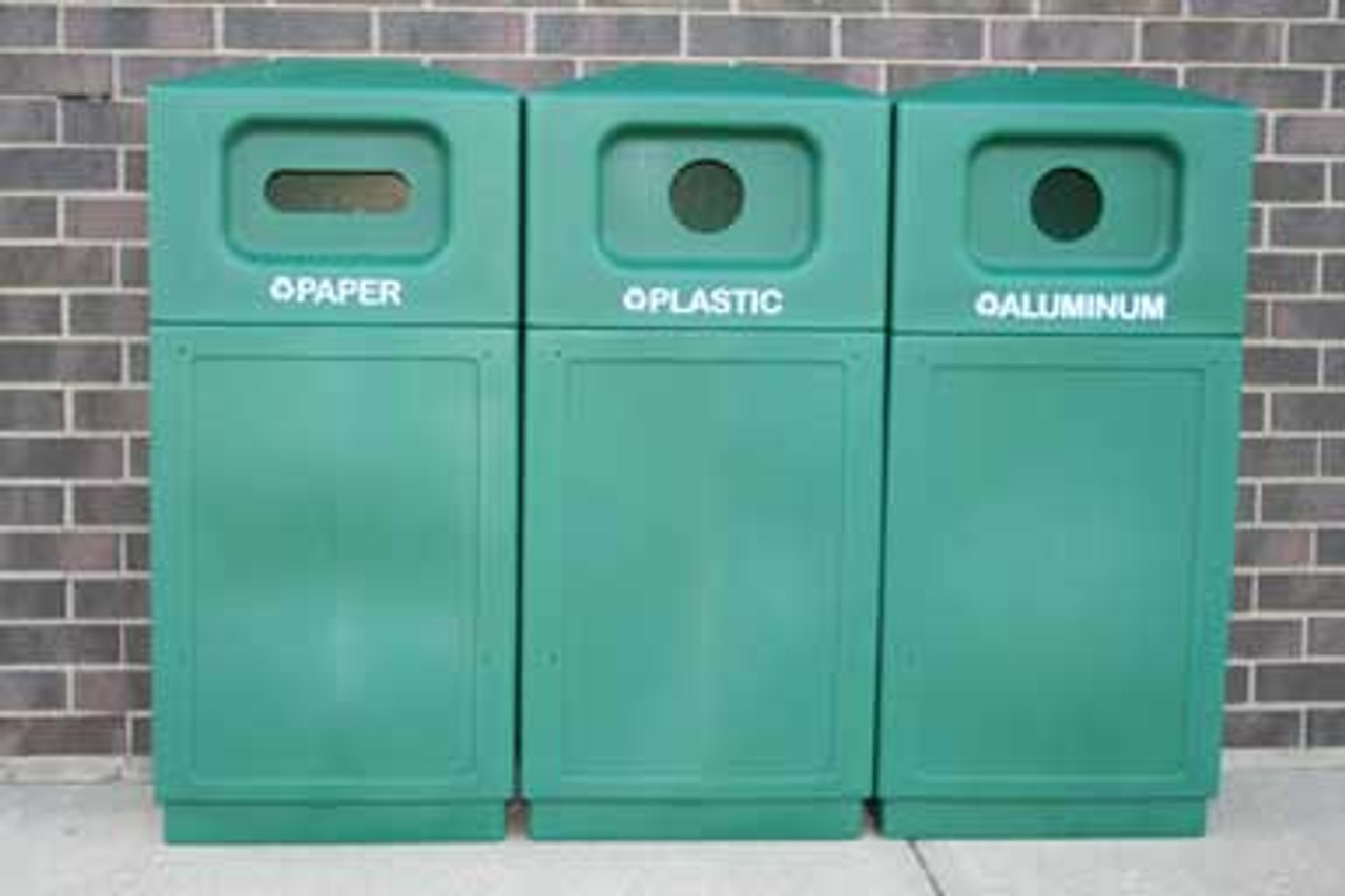Outdoor Hooded Dome Top Recycle Bin