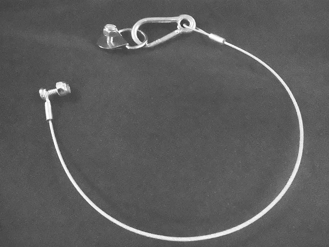12 Inch Lanyard Cable and Bolt Assembly