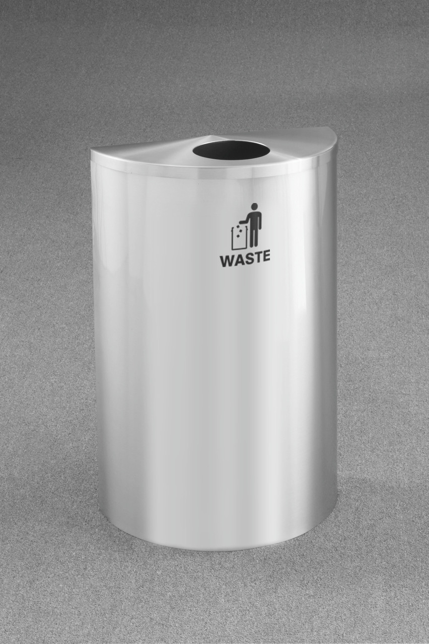 WASTE LOGO (International Tidy Man Waste Decal) Satin Aluminum
