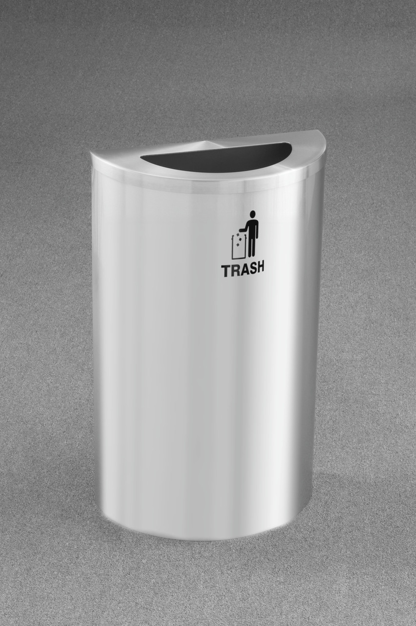 TRASH LOGO (International Tidy Man Trash Decal) Satin Aluminum