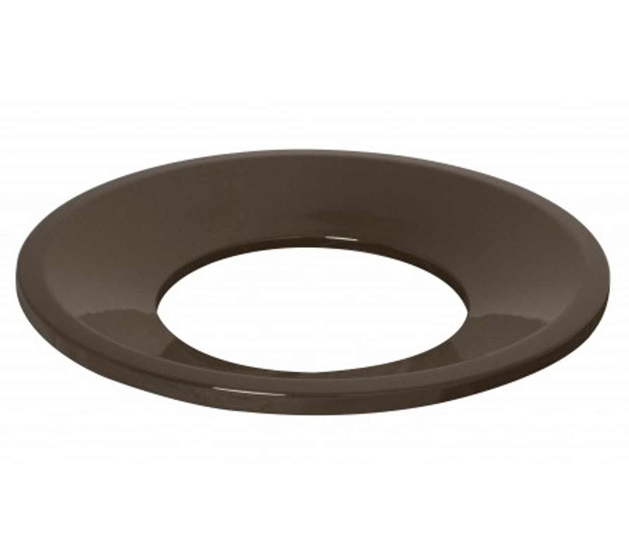 Funnel Lid Textured Brown Trash Can Lid