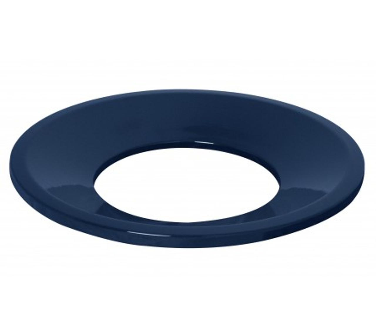 Funnel Lid Textured Indigo Blue Trash Can Lid