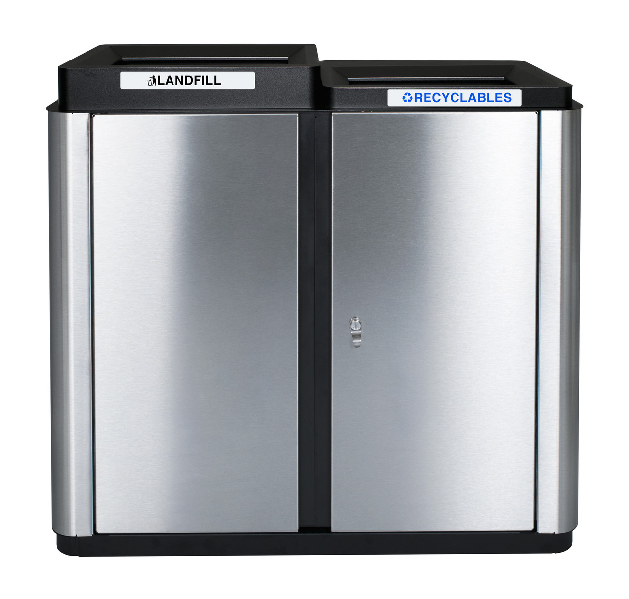 70 Gallon Echelon Collection Indoor Two Stream Recycling Receptacle (2 Waste Openings)