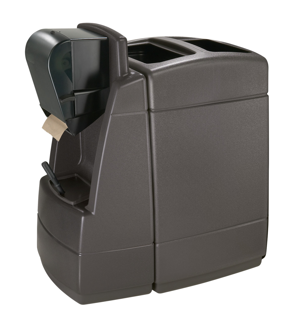 55 Gallon 75830599 Single Sided Gas Station Outdoor Trash Can Maui 1
