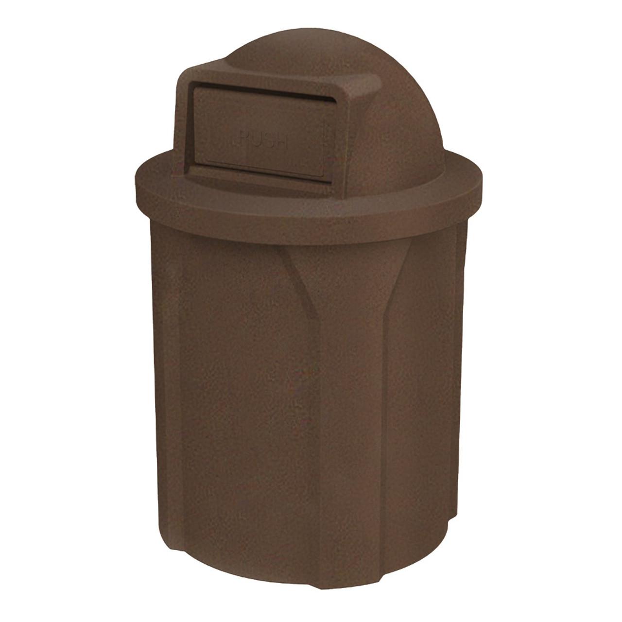42 Gallon Kolor Can Push Door School Trash Receptacle S7101A-00 BROWN GRANITE