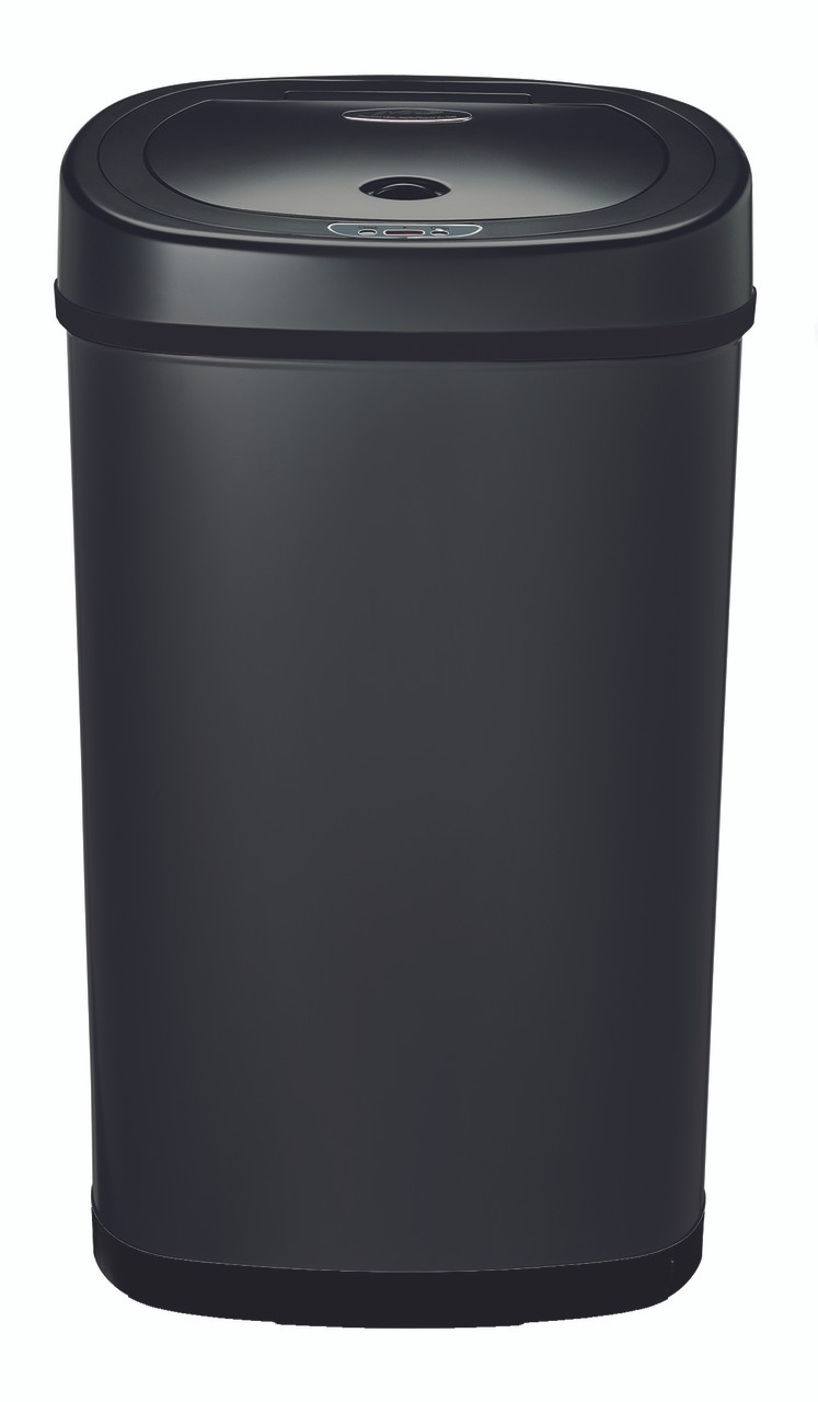 13 Gallon Touchless Automatic Black Kitchen Trash Can DZT-50-9BK