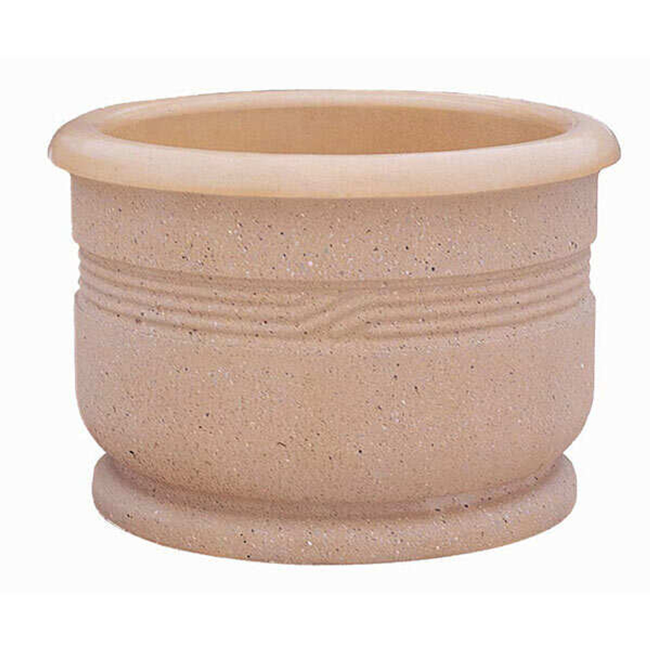 26 x 24 Decorative Classical Outdoor Round Concrete Planter WS4027 Weatherstone Buff