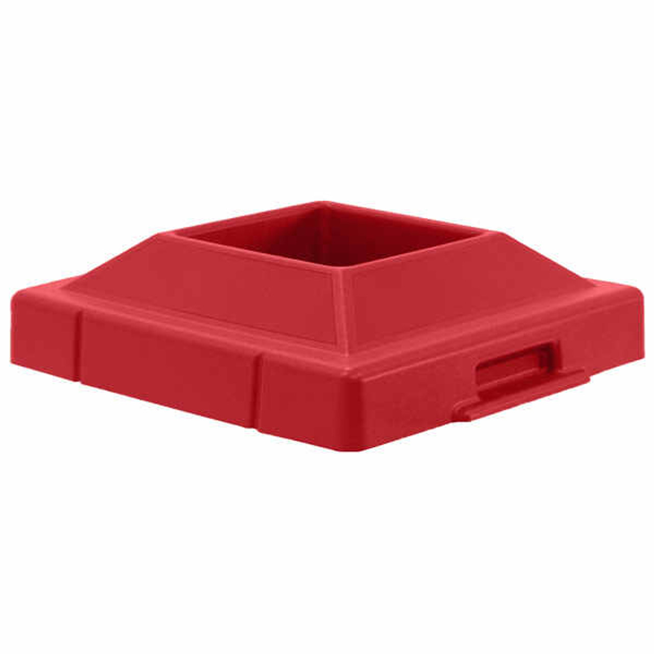20.5 x 20.5 Pitch In Plastic Lids TF1420 for Square Trash Cans Red