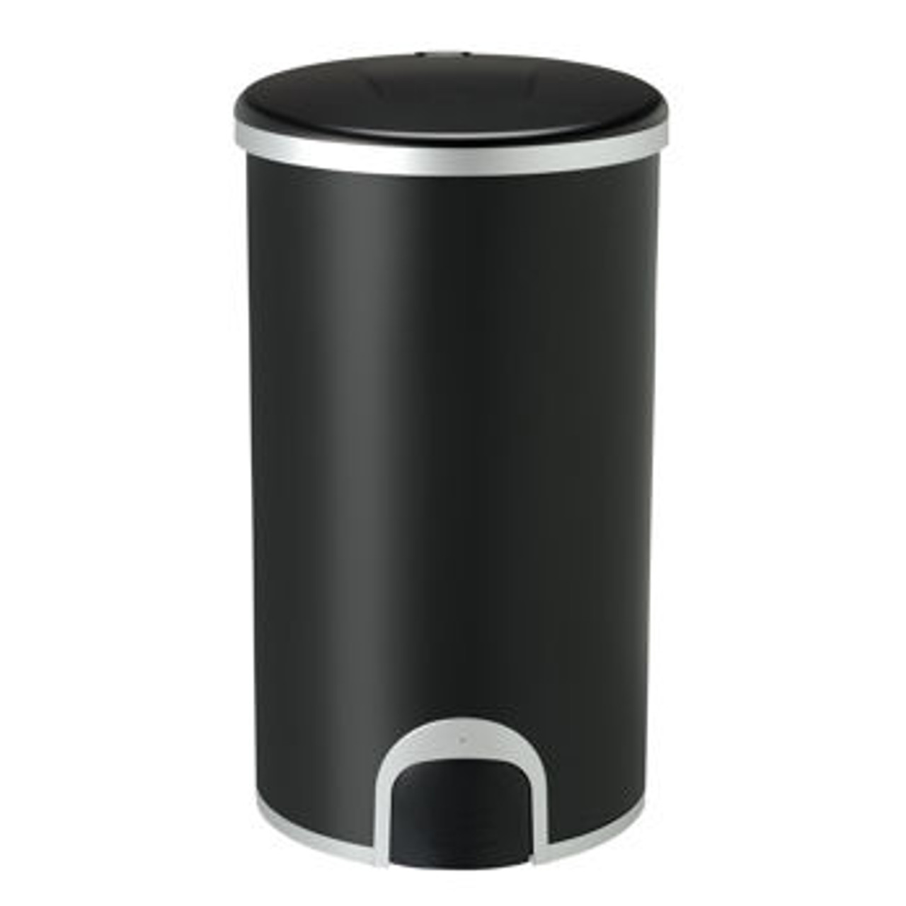 12 Gallon Black Toe Tap Dog Proof Kitchen Trash Can TTT-45-8BK