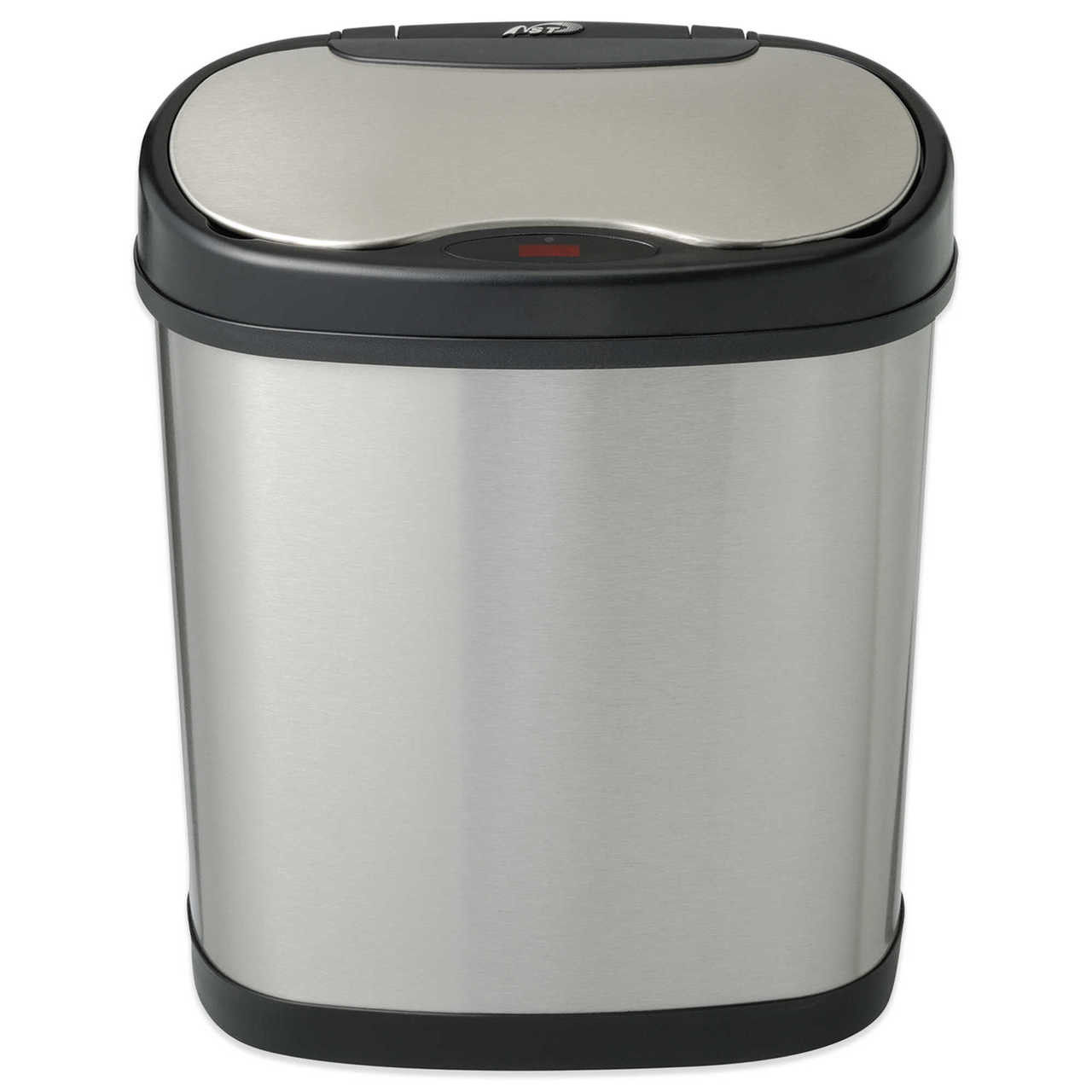 3 Gallon Touchless Automatic Bathroom Trash Can Stainless Steel DZT-12-13 Front