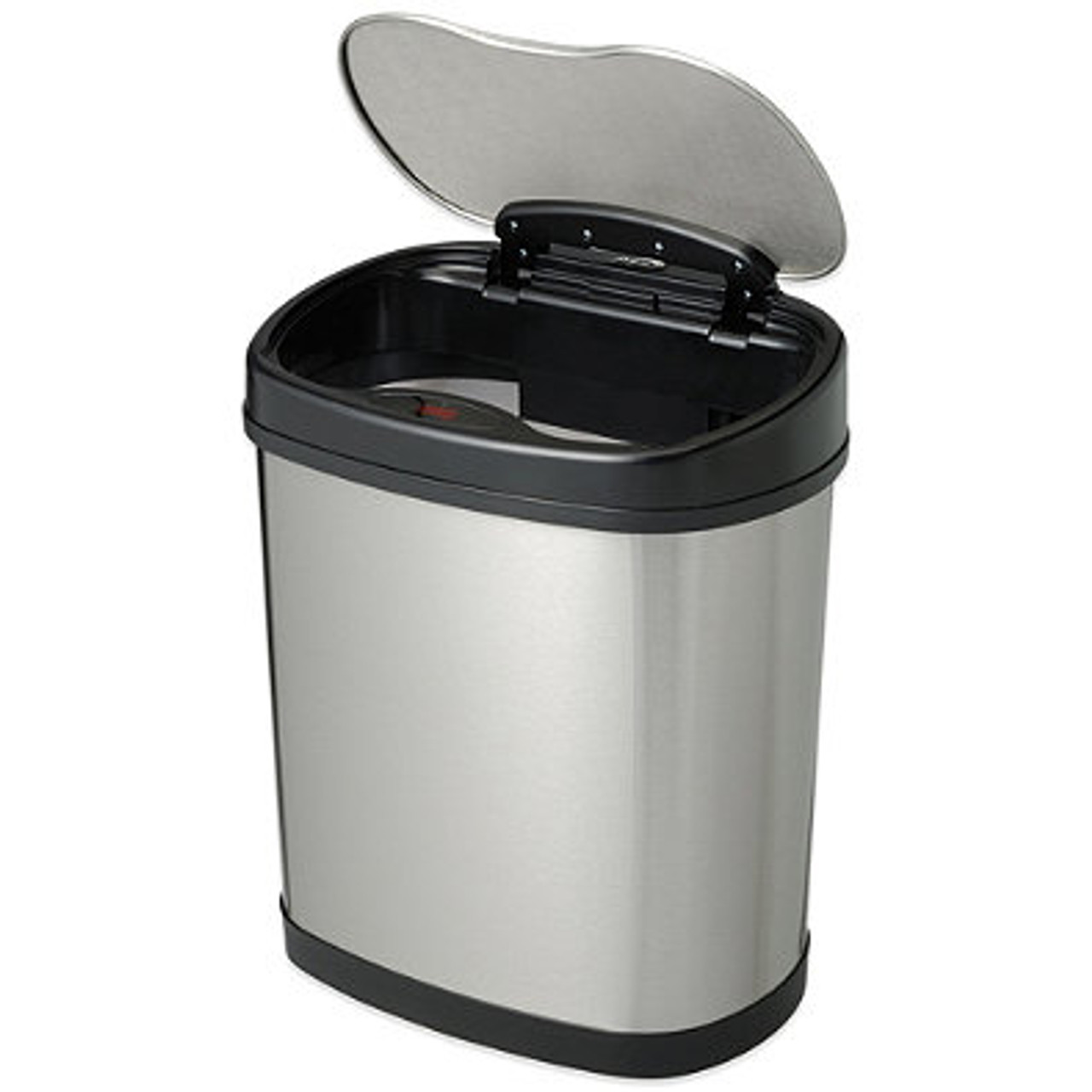 3 Gallon Touchless Automatic Bathroom Trash Can Stainless Steel DZT-12-13 Open