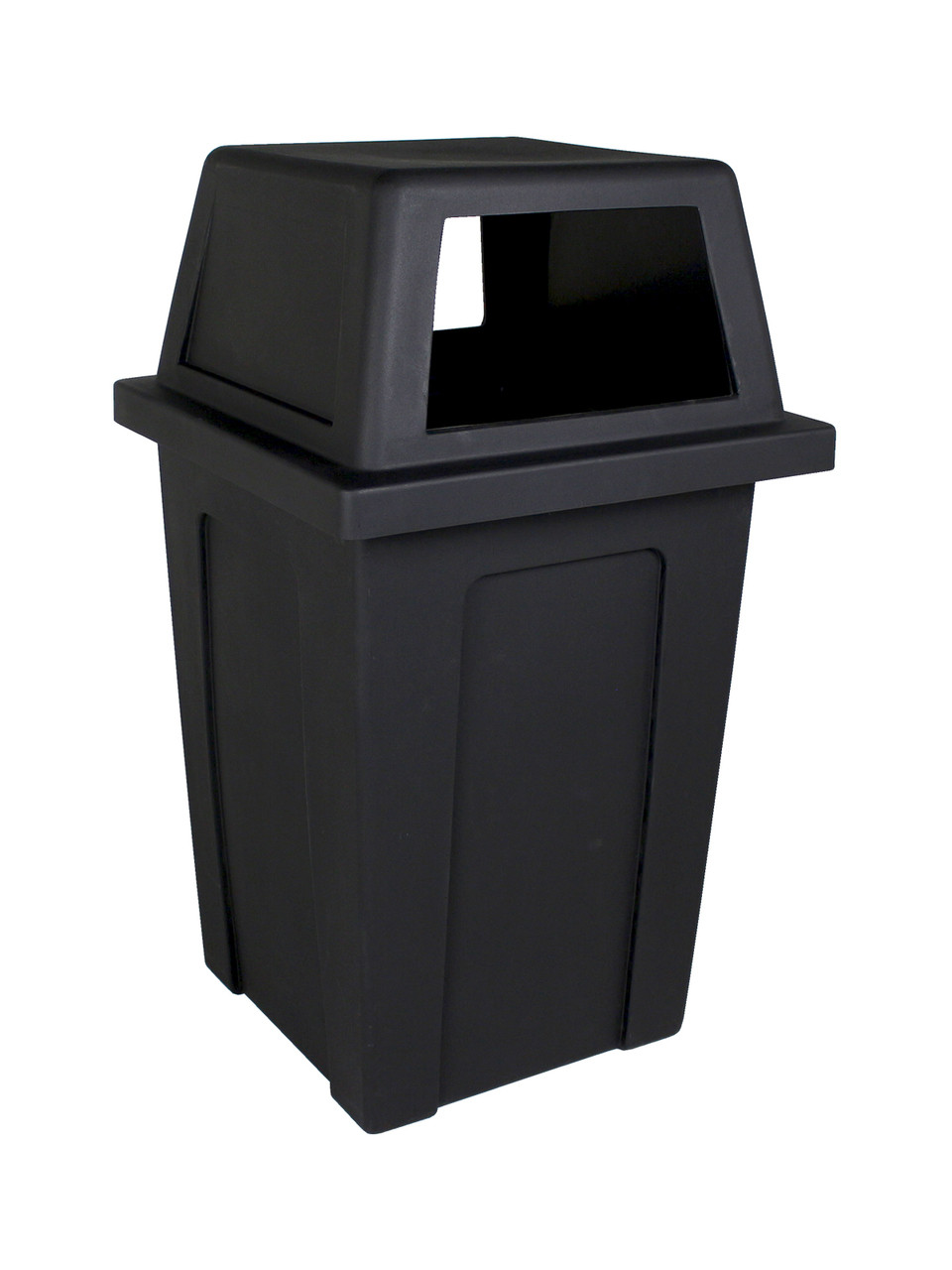 45 Gallon Heavy Duty Plastic Sentry Indoor Outdoor Trash Can Black  101707