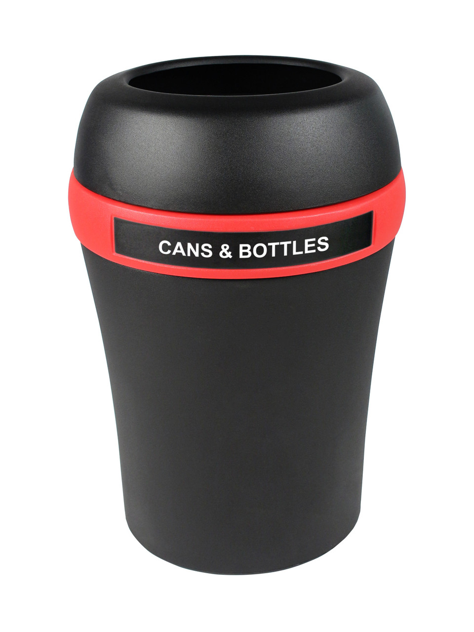 Cans & Bottles Only-Black/Red-Full