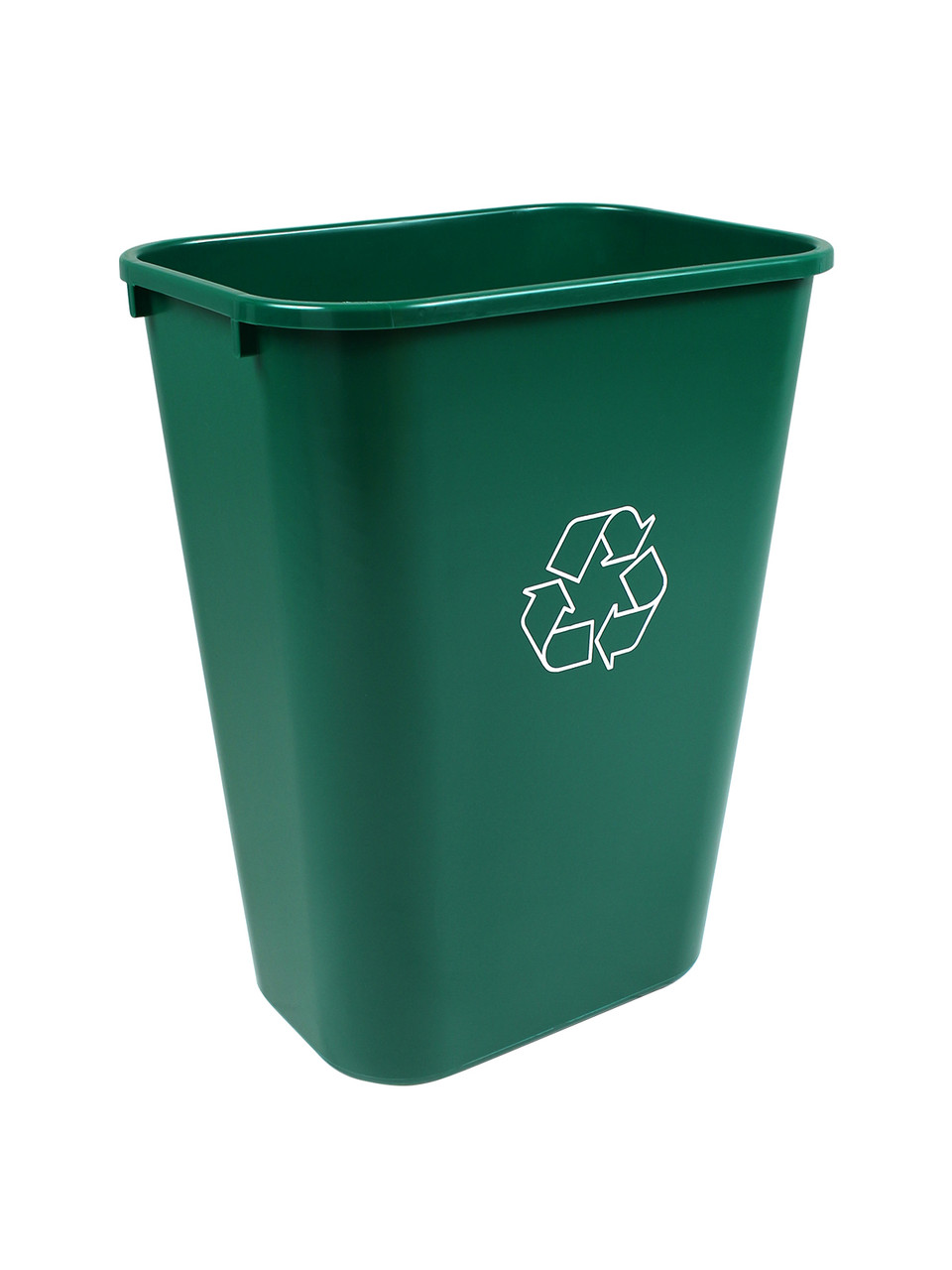 41 Quart Plastic Office Desk Side Recycling Wastebaskets Green 41QT-GN (8 Pack)