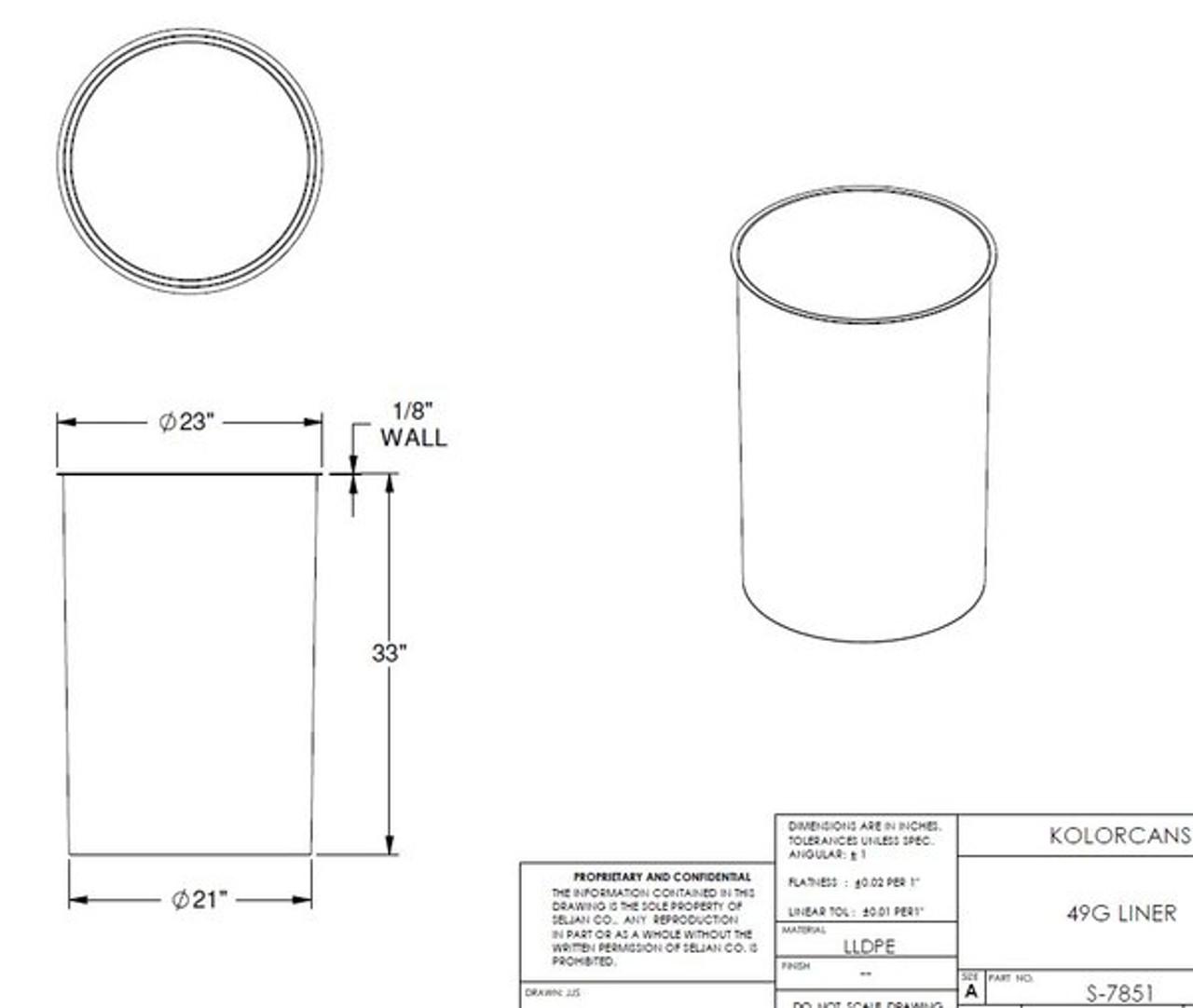 Liner Spec Sheet