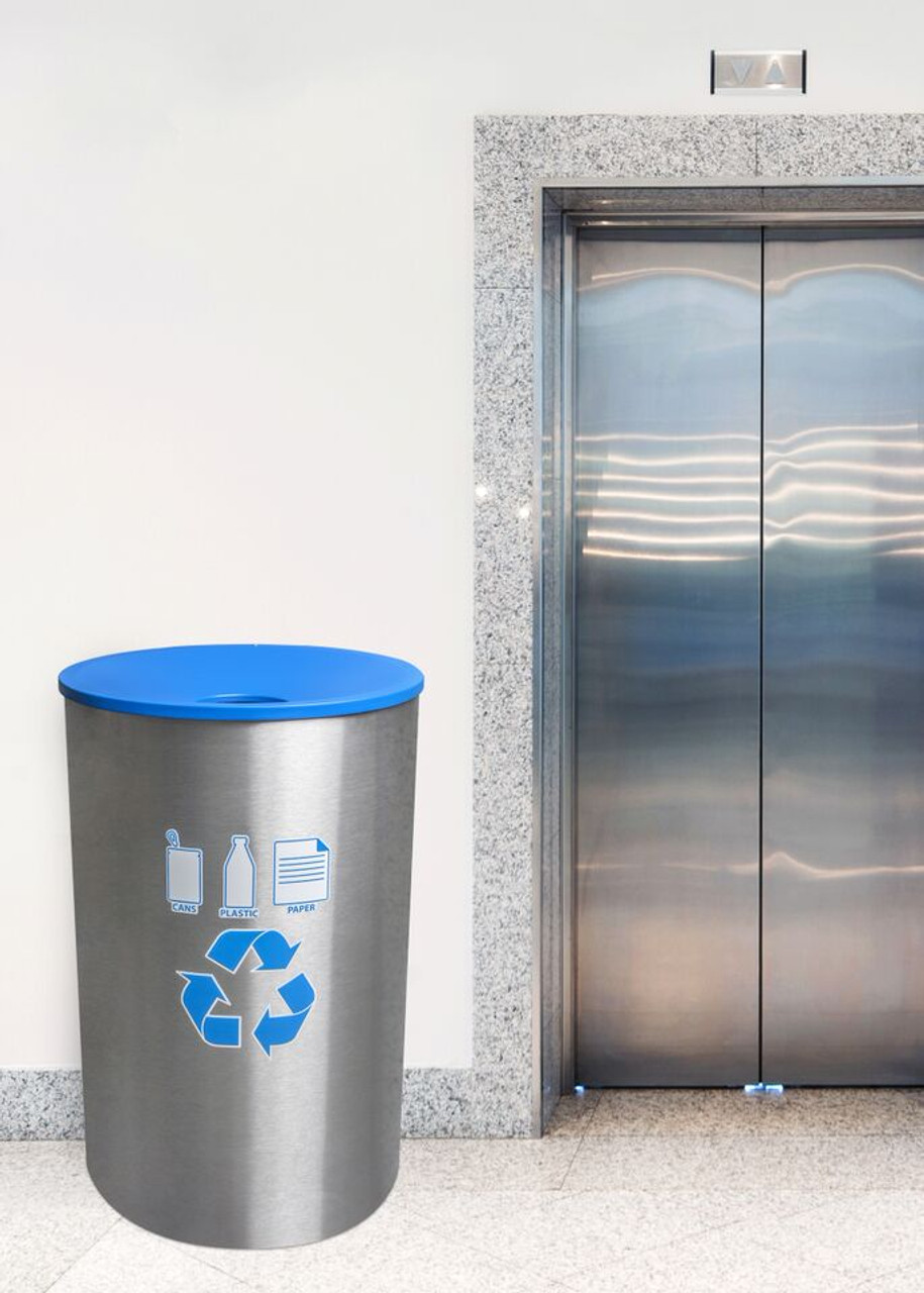 Recycling Receptacle at the Elevator