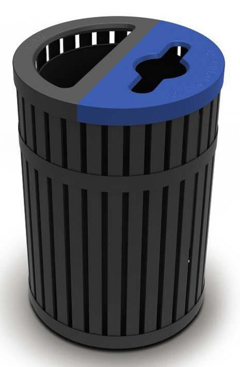 45 Gallon ArchTec 728501 Parkview 4 Metal Trash and Recycling Combo Bin