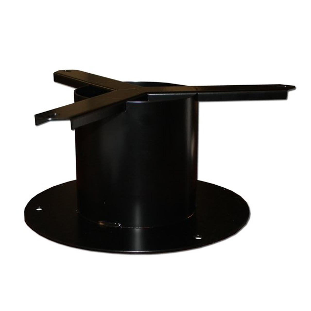 Black Steel Pedestal Mount P9001-00 for Kolorcans Plastic Trash Receptacles
