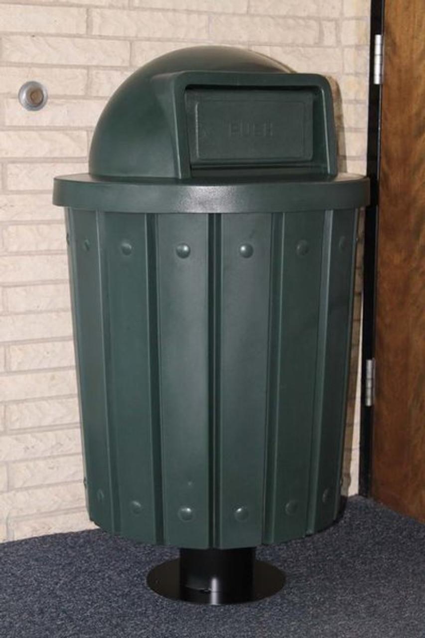 Trash Can on Pedestal
