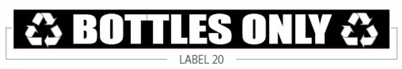 Bottles Only Decal