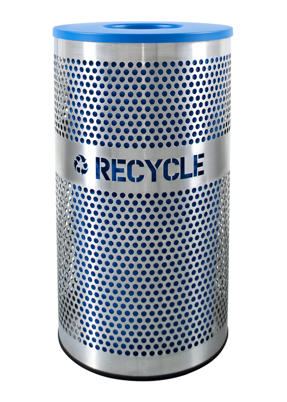 33 Gallon Excell Perforated Stainless Steel Recycling Receptacle VCR-33 PERF SS