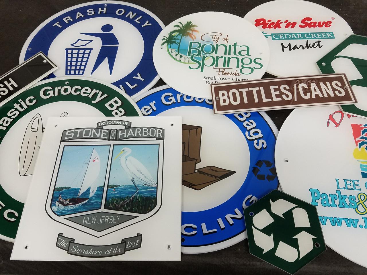 Close Up of Silk Screen Logos