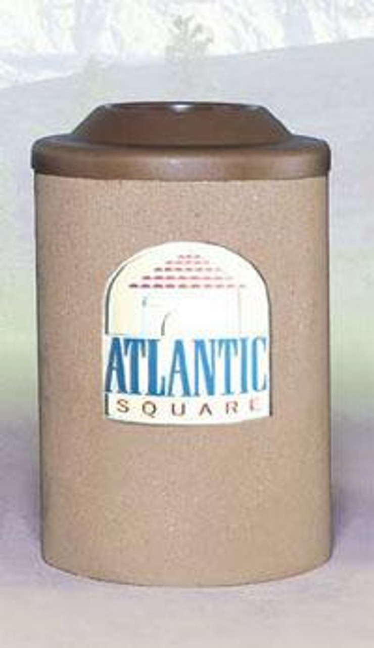 53 Gallon Custom Logo Round Pitch In Lid Trash Can CLTF1140 with Silk Screen Logo