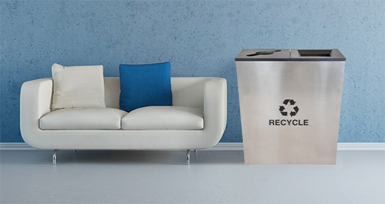 Recycling Receptacle in the Waiting Room
