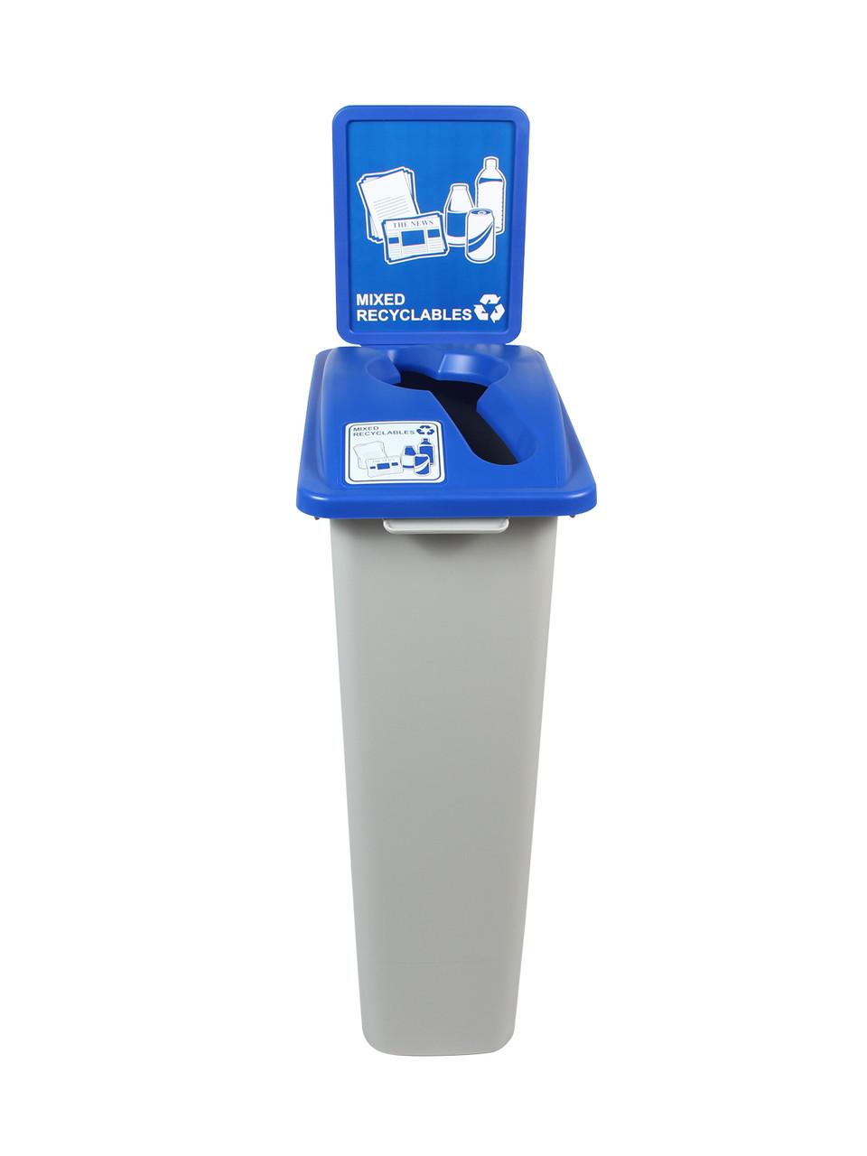 23 Gallon Simple Sort Single Home & Office Recycling Bin WW2 (5 Colors)
