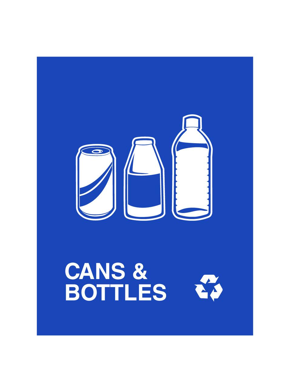 Cans & Bottles Blue