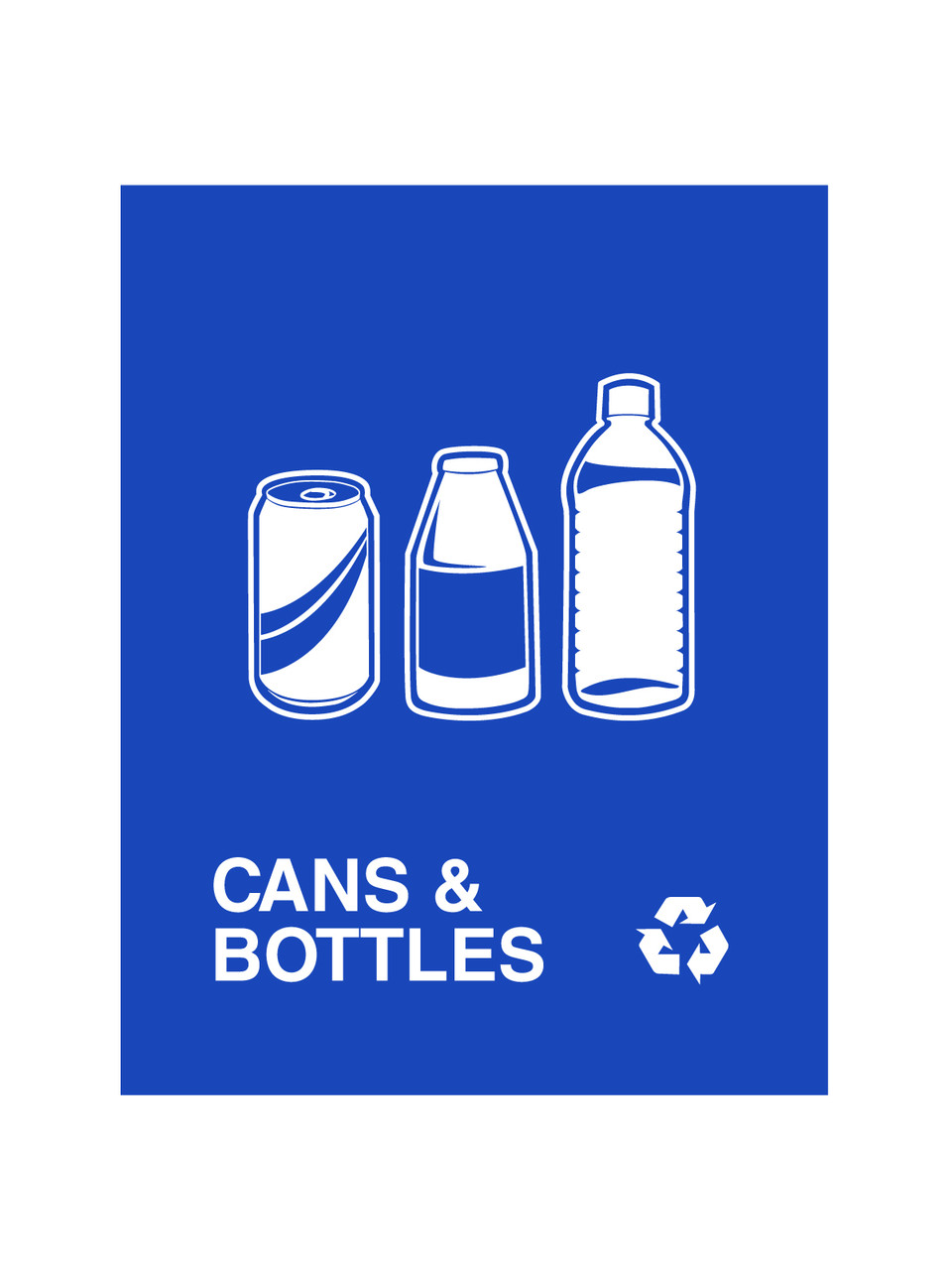 Cans & Bottles Blue