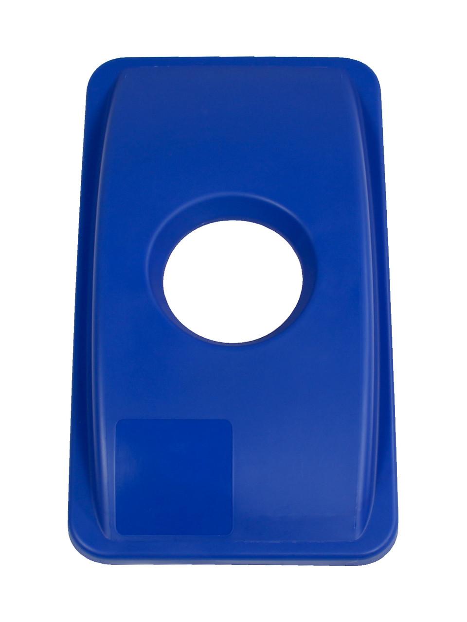 CIRCLE OPENING LID BLUE