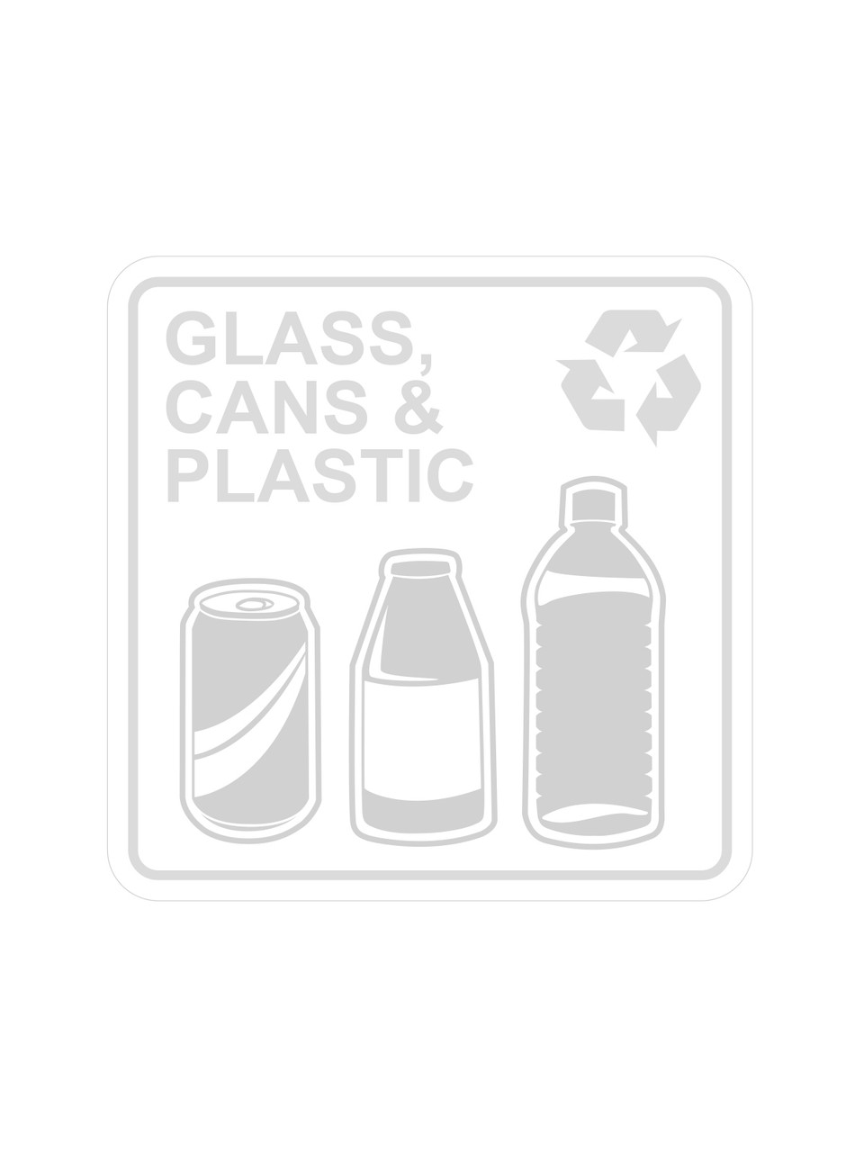 Glass, Cans & Plastic