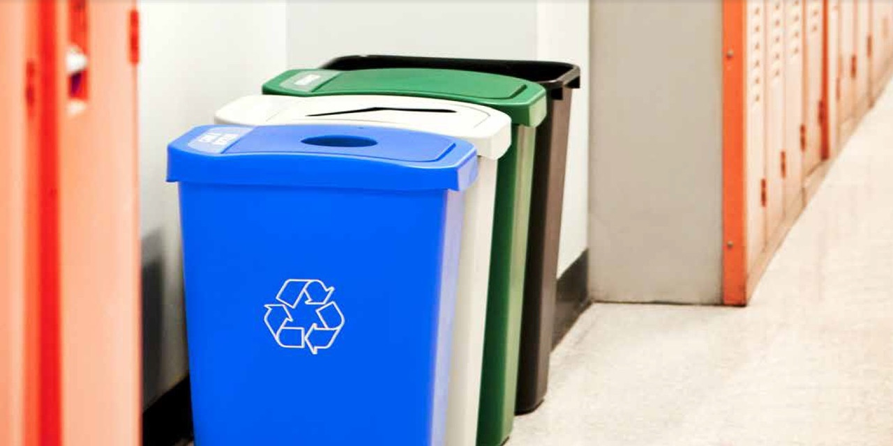 Billi Box Recycling Bin and Trash Cans at School
