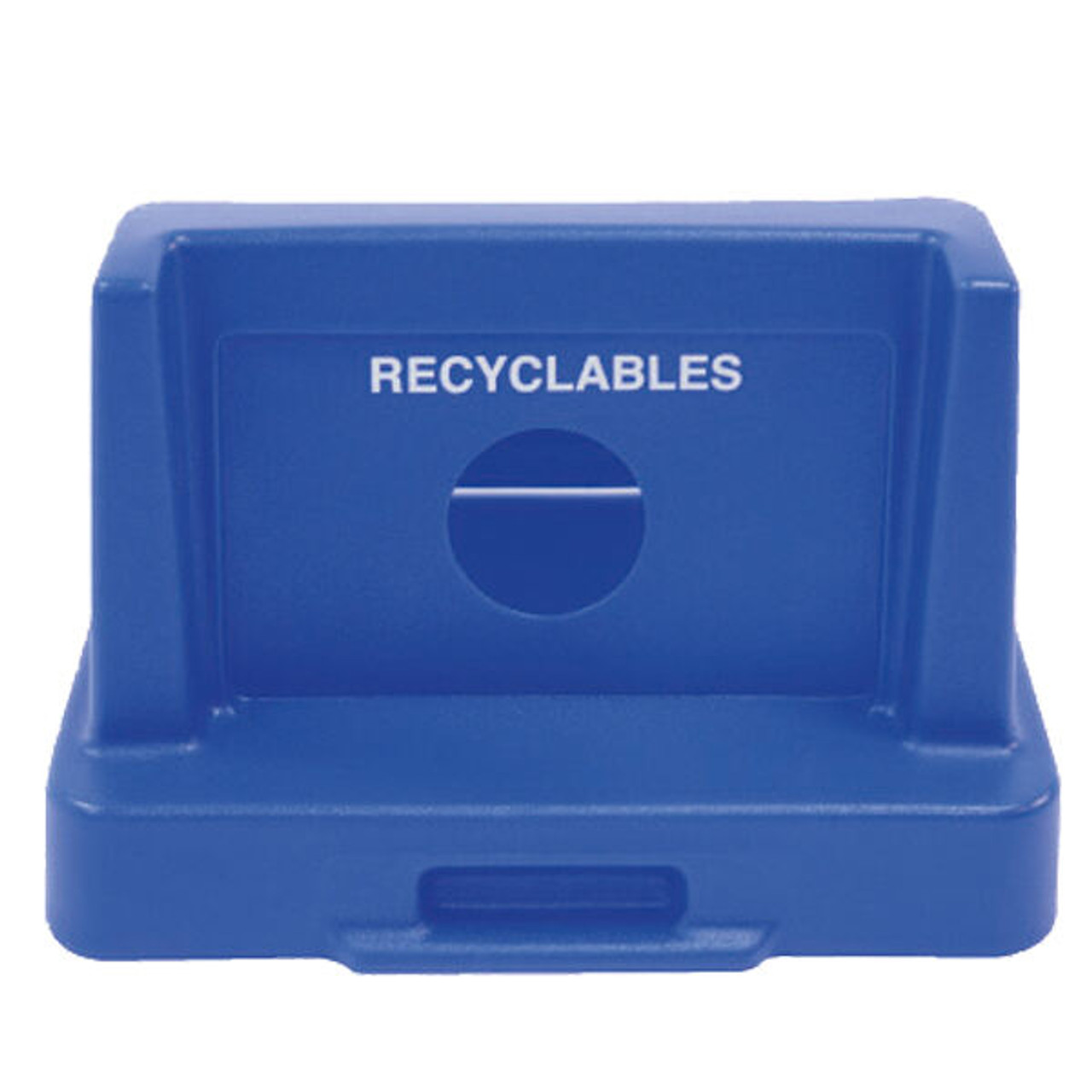 25 x 25 Domed Plastic Recycle Lids TF1424 for Square Trash Cans (Many Colors)