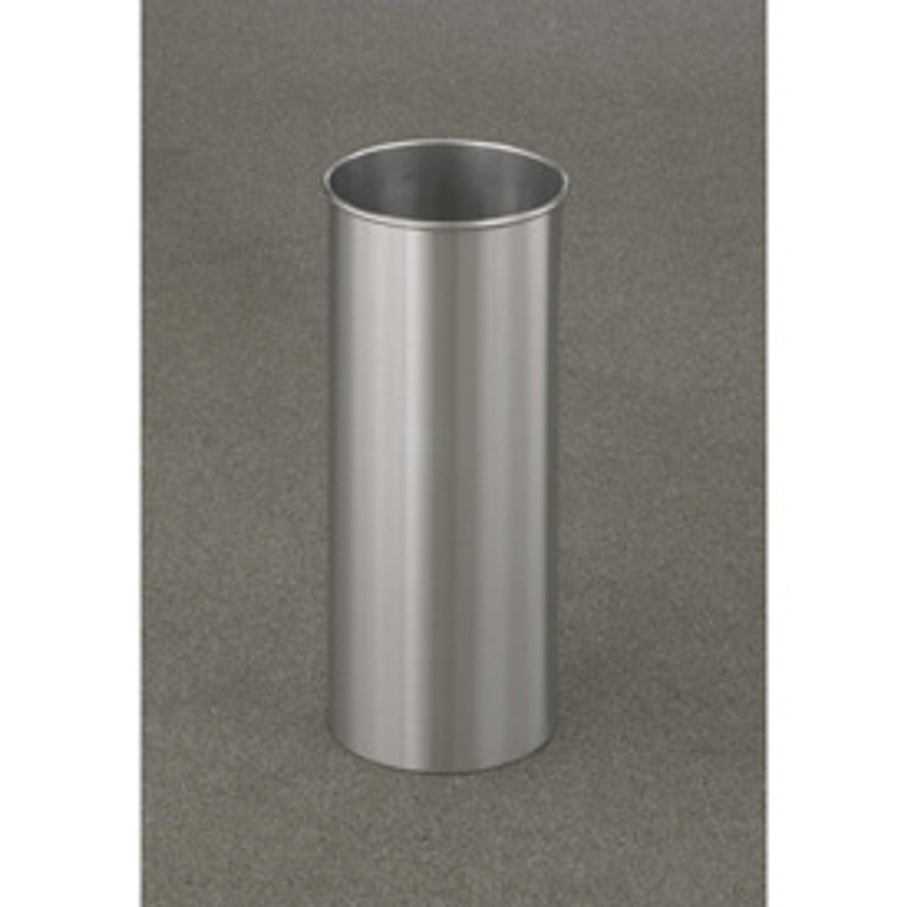 7 Gallon 9 x 23 Open Top Home Office Wastebasket Satin Aluminum