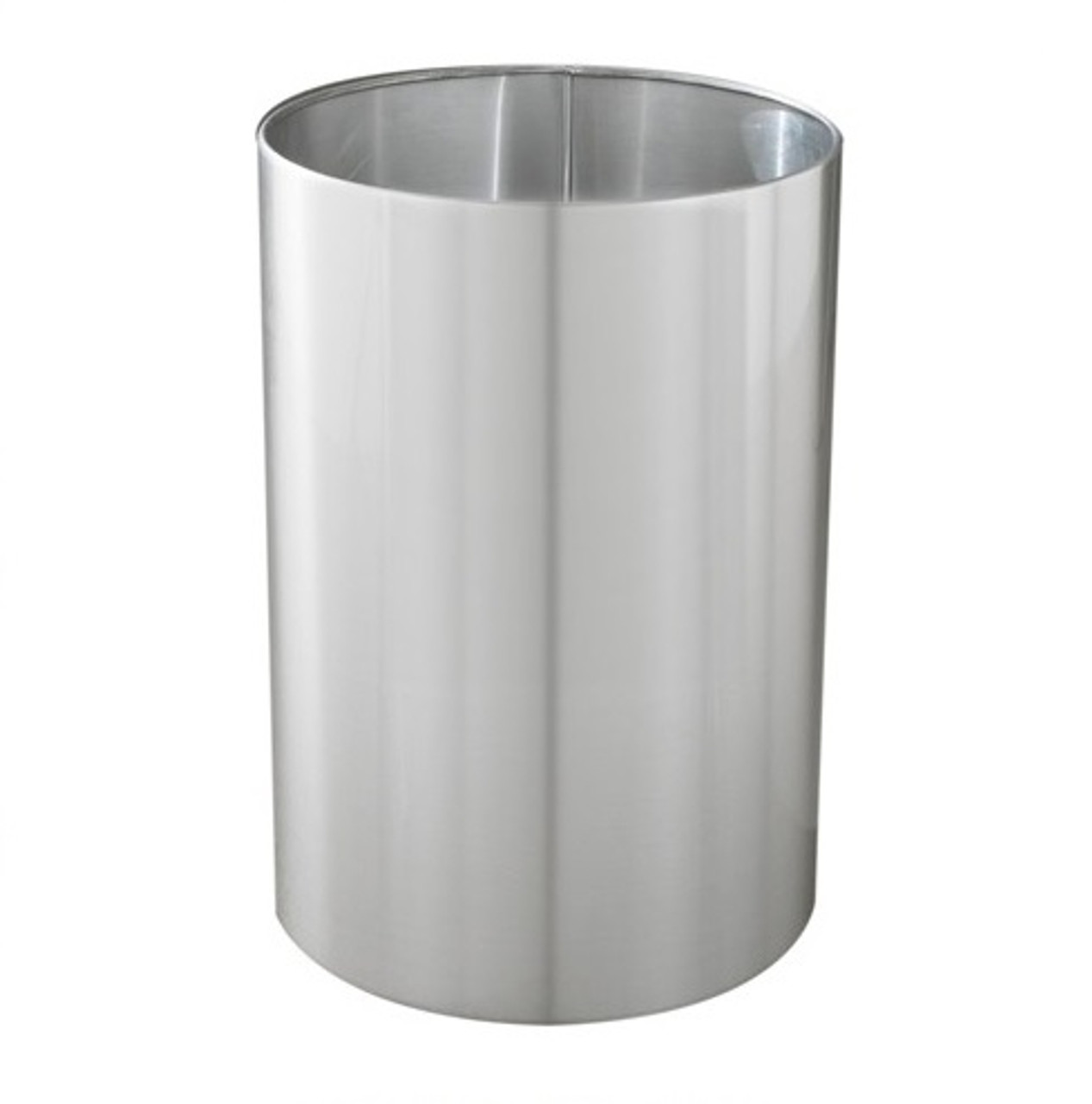 39 Gallon 20 x 29 Large Open Top Home Office Wastebasket Satin Aluminum