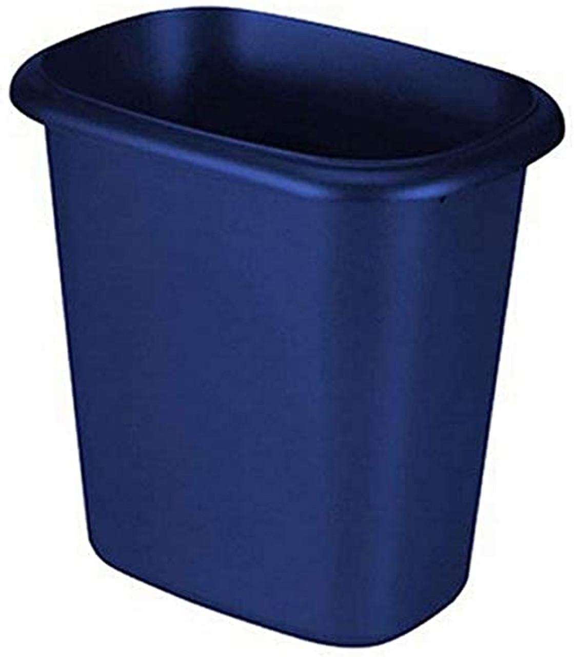 6 Quart Royal Blue Vanity Bathroom Wastebasket 2953