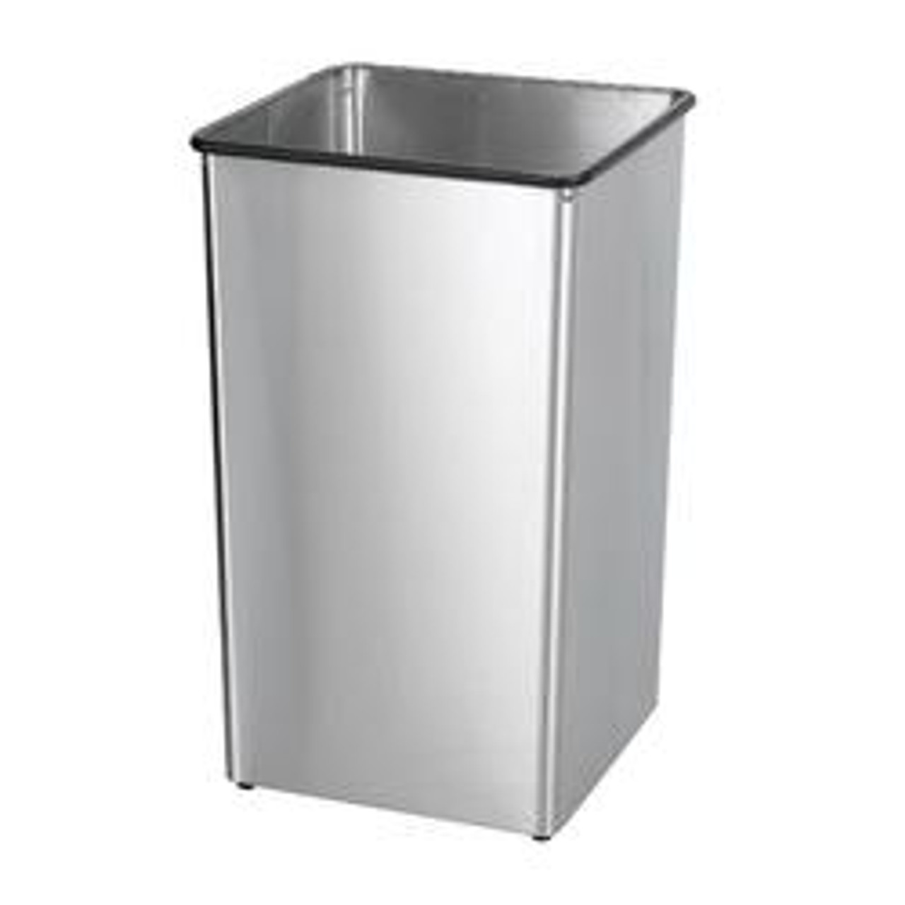 21 Gallon Painted Metal Square Trash Can Base 21H (3 Color Choices)