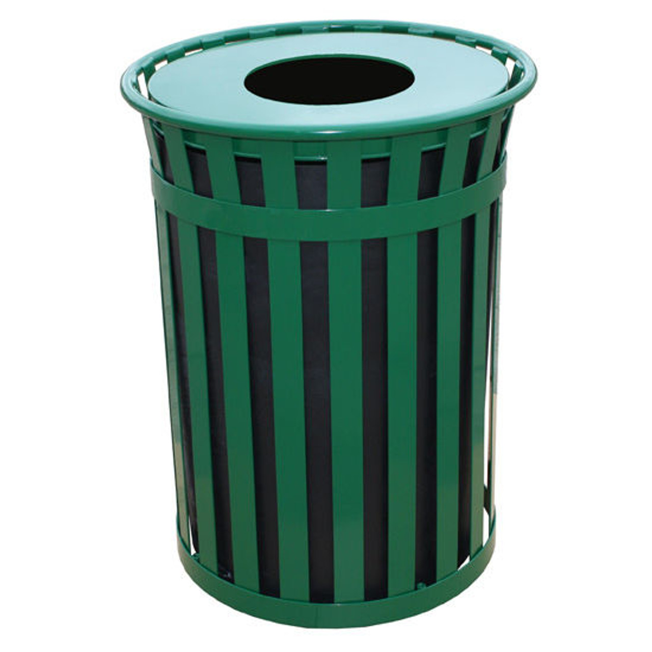 50 Gallon Witt Industries Oakley M5001FT Outdoor Trash Can Green