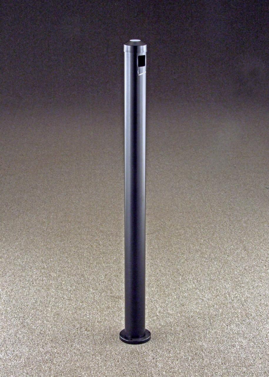 2406 Surface Mount Metal Value Smokers Cigarette Receptacle Ashtray Satin Black