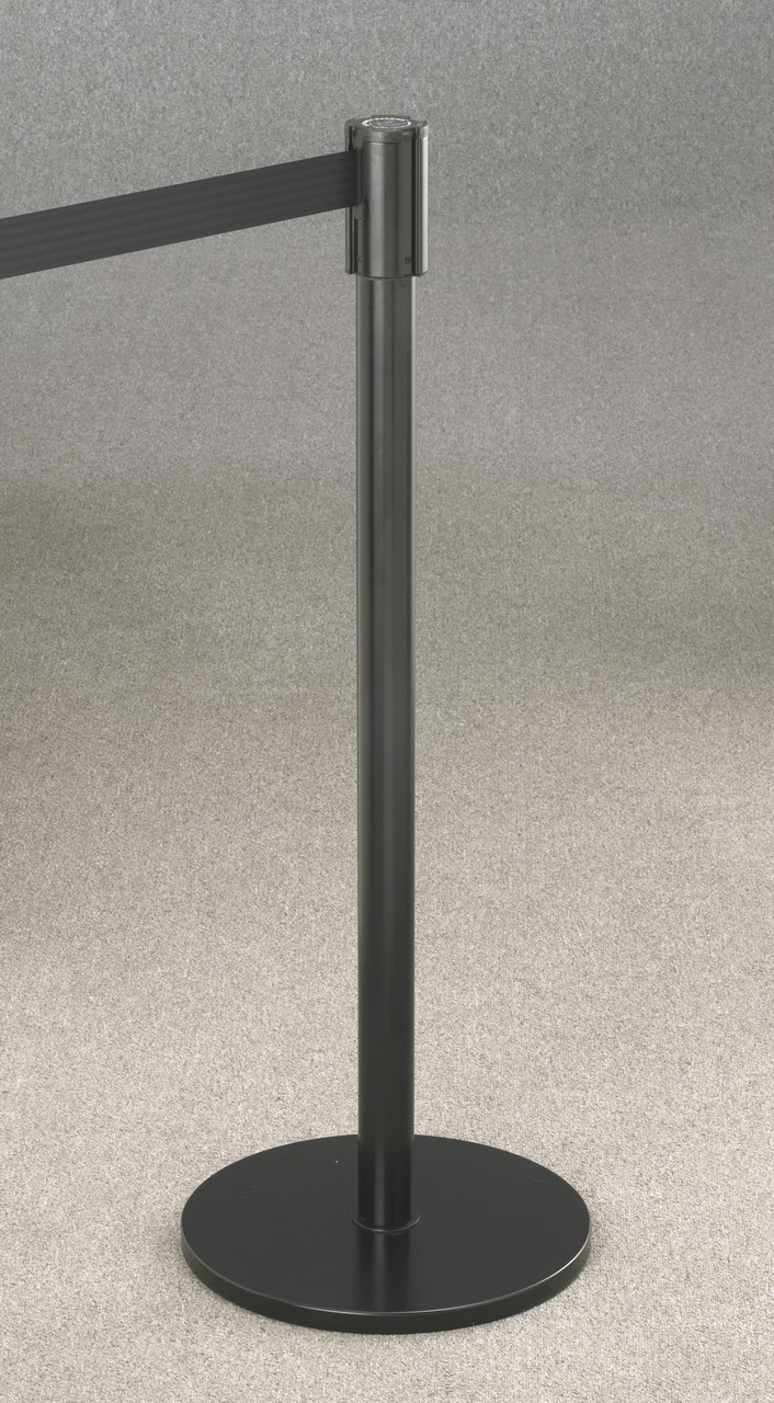 132 Extenda-Barrier Satin Black Retractable Crowd Control Barrier