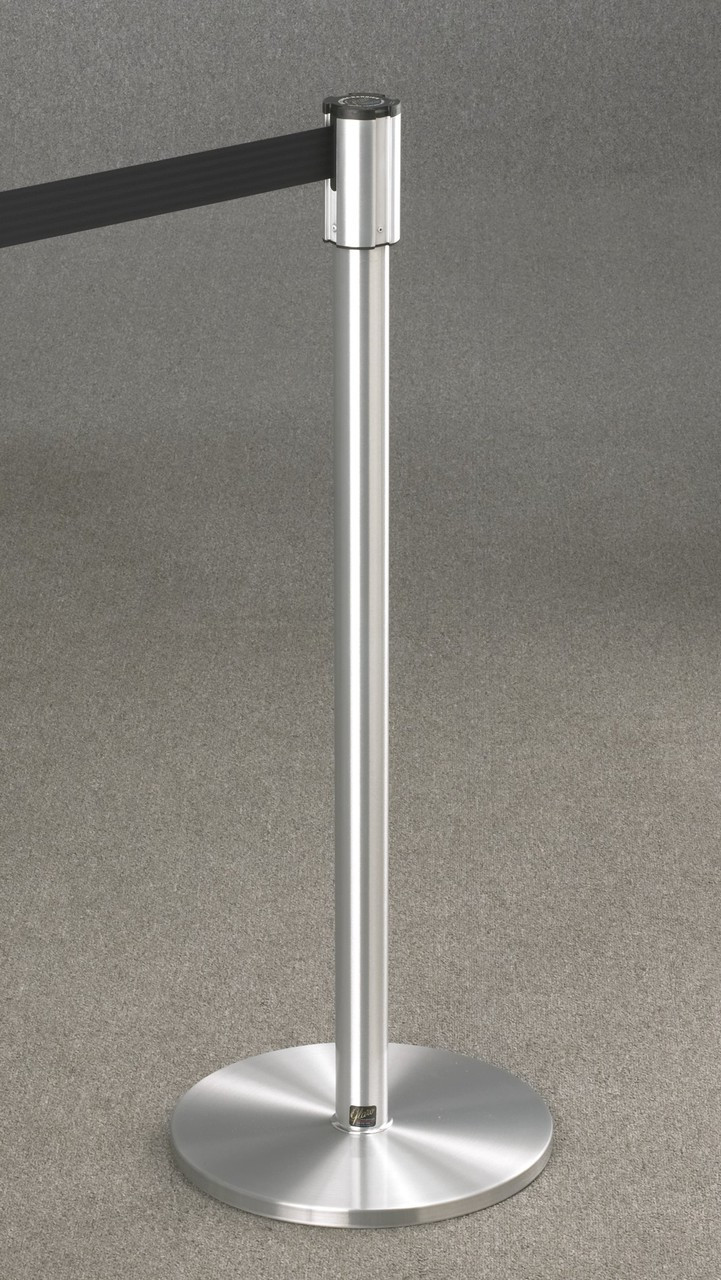 132 Extenda-Barrier Satin Aluminum Retractable Crowd Control Barrier