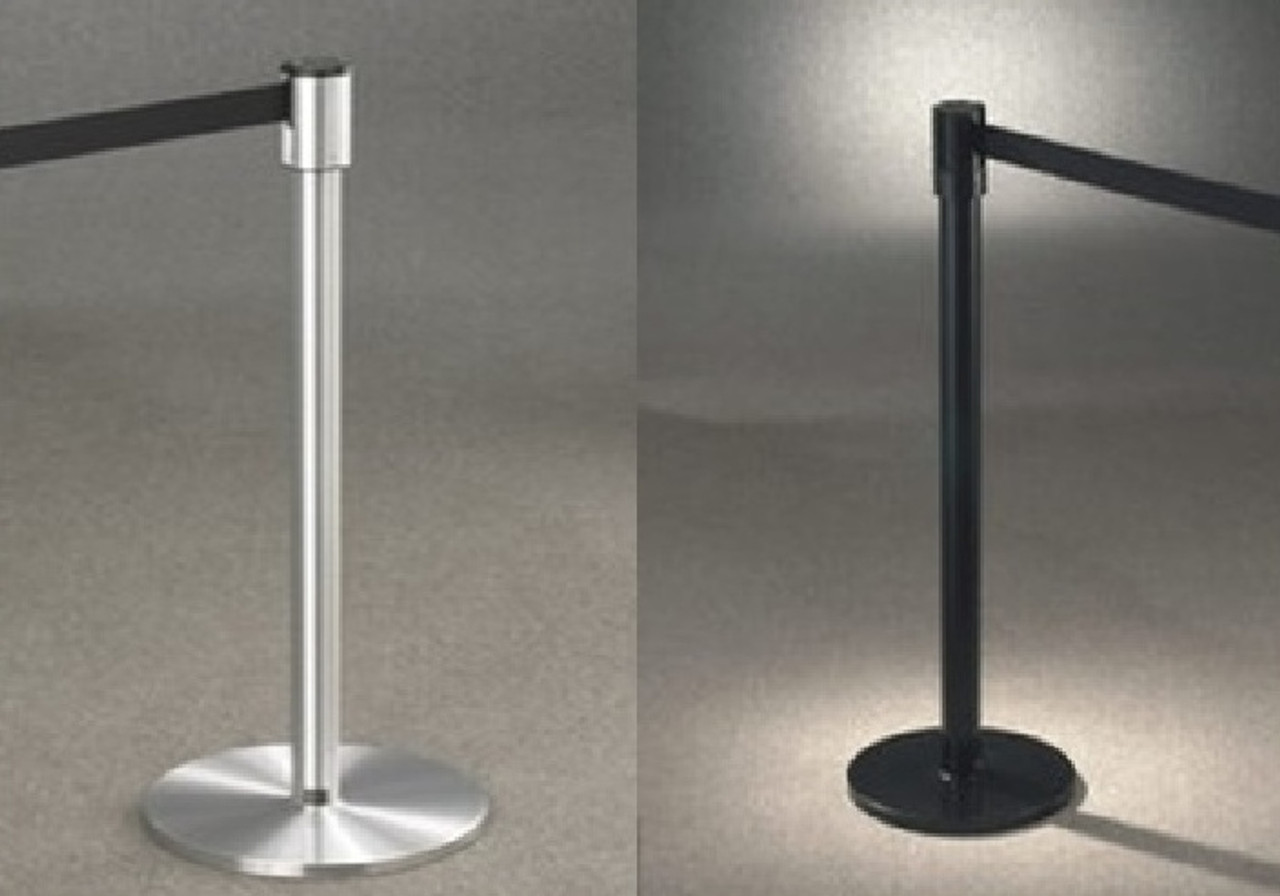 152 Extenda-Barrier Aluminum or Black Retractable Crowd Control (13 Feet)