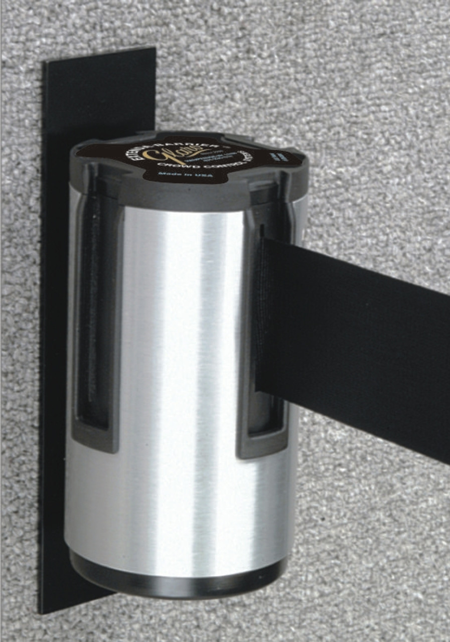 W12 Extenda-Barrier Aluminum or Black Retractable Crowd Control (13 Feet)