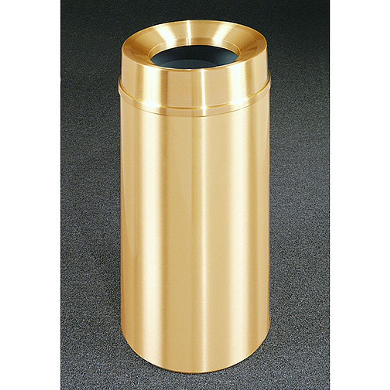 16 Gallon All Weather Brass Funnel Top Trash Can F1533BE