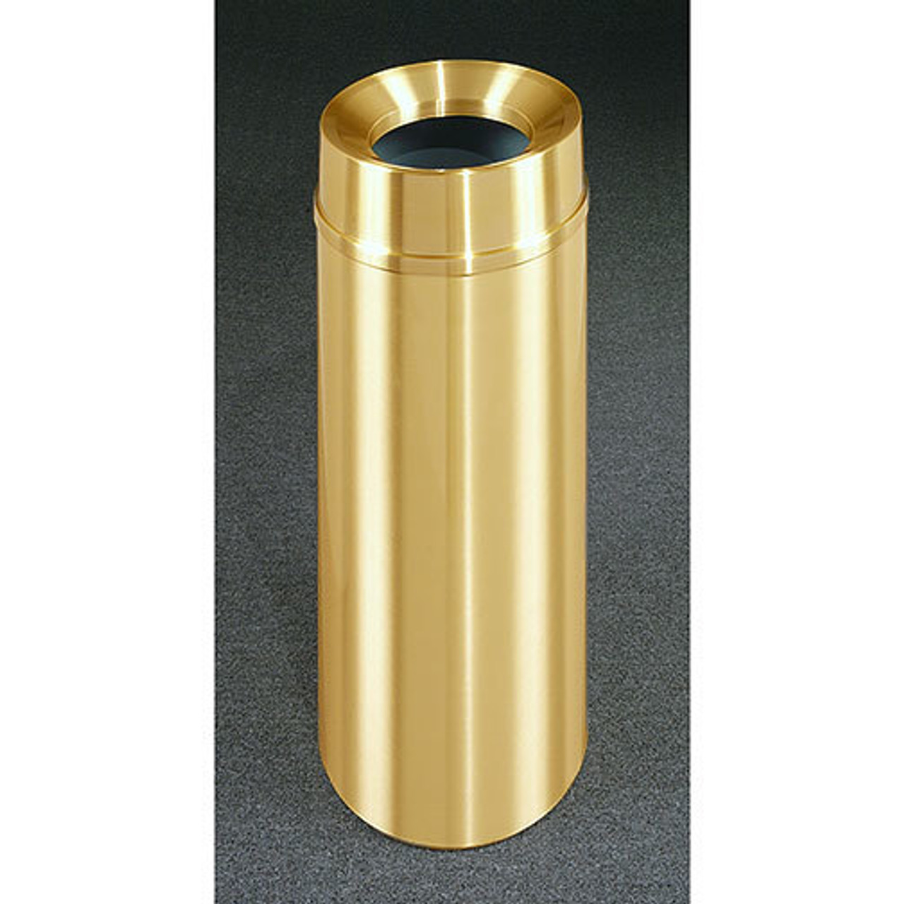 12 Gallon All Weather Brass Funnel Top Trash Can F1232BE